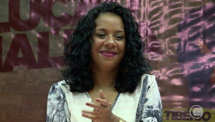 Luciane Santos, candidata do PSTU ao governo do estado do Piauí  (Foto: Reprodução/TV Clube)
