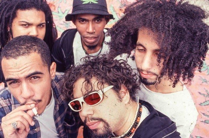 Planet Hemp, em 1993, com a primeira formação da banda acusada de fazer apologia do uso de maconha — Foto: Dani Dacorso / Arquivo pessoal