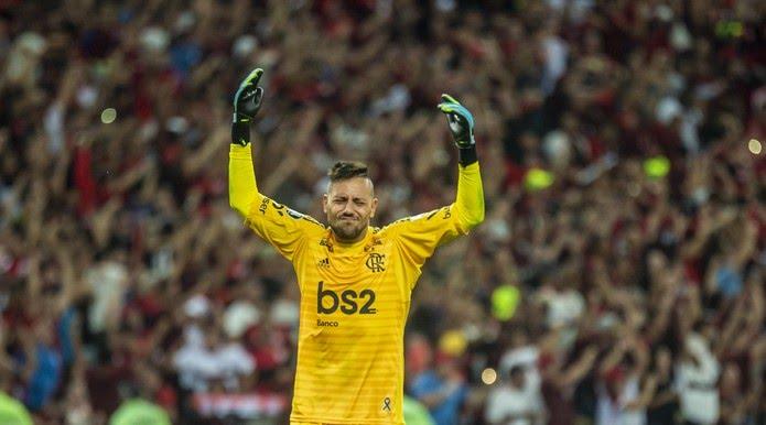 Diego Alves vive seu melhor momento no Flamengo — Foto: Alexandre Vidal / Flamengo