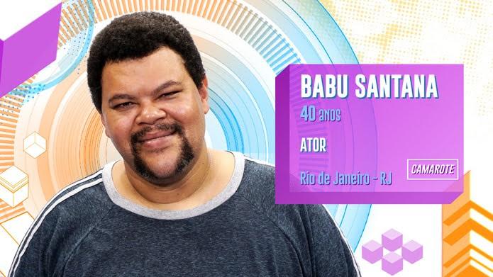 Babu Santana é participante do BBB20 — Foto: Globo