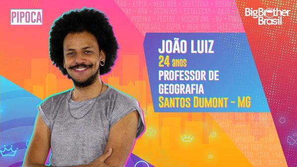 João Luiz, BBB21 — Foto: Globo