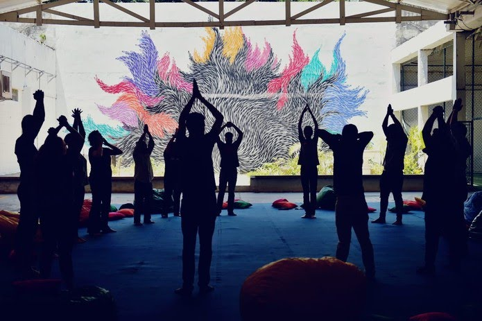 Oficinas com foco em saúde física e mental tiveram espaço especial no Menos30 Fest deste ano — Foto: Globo / Gustavo Scatena