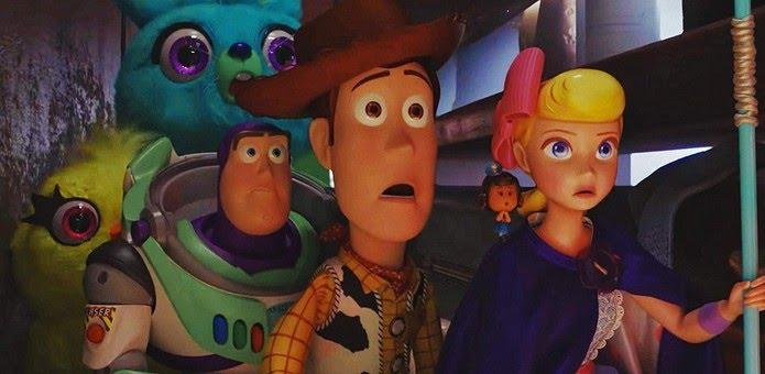 Ducky, Bunny, Buzz, Woody e Bo Peep em 'Toy Story 4' — Foto: Divulgação