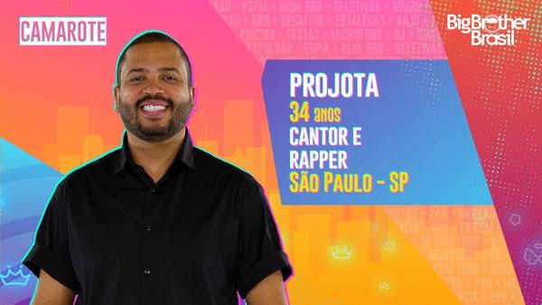 Projota, BBB21 — Foto: Globo