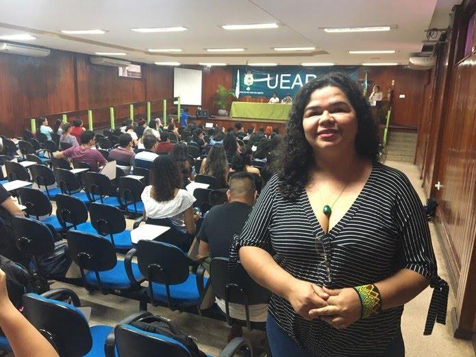 Carla Nobre foi uma das autoras participantes do evento  — Foto: Caio Coutinho/G1