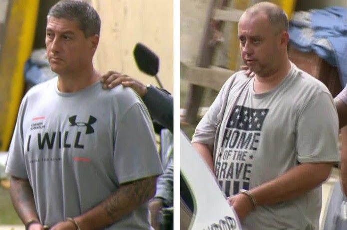 Ronnie Lessa e Élcio Queiroz foram presos em março deste ano, um ano após o crime — Foto: Reprodução/TV Globo
