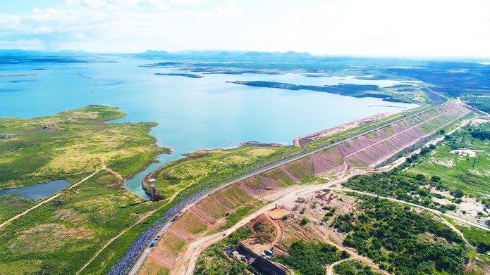 Maior reservatório do RN, Barragem Armando Ribeiro Gonçalves tem capacidade para até 2,4 bilhões de metros cúbicos de água — Foto: Bruno Andrade