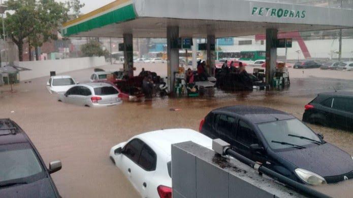 Posto de gasolina nos Barris, em Salvador — Foto: Redes sociais