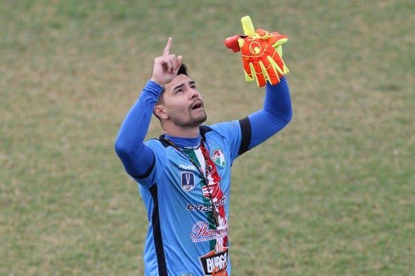 Cesar Tanaka, goleiro do Salgueiro — Foto: Aldo Carneiro/Pernambuco Press