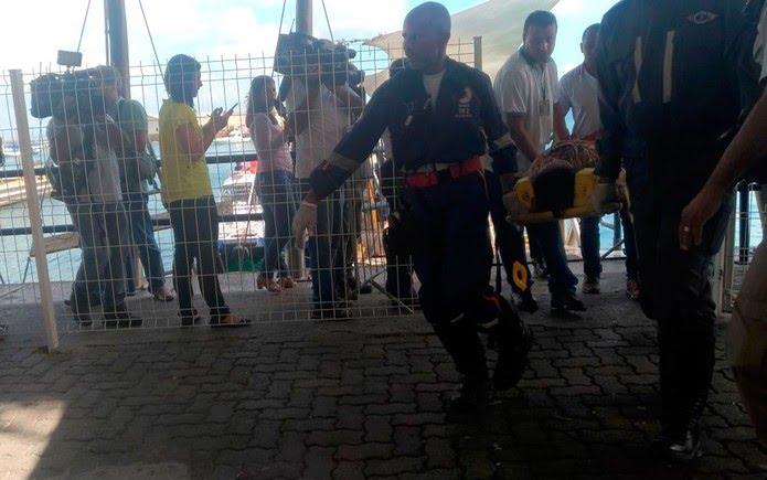 Passageiro é resgatado pelo Samu no terminal Náutico de Salvador