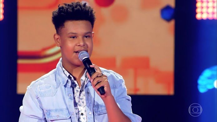 Davi Anderson é participante do 'The Voice Kids' — Foto: TV Globo