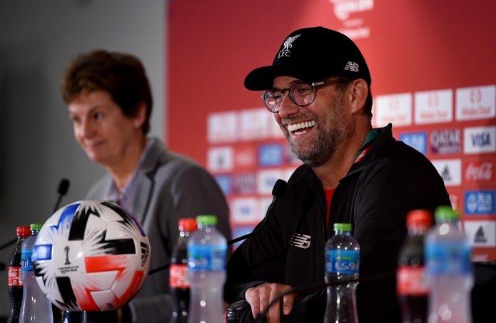 Jürgen Klopp em entrevista coletiva nesta sexta-feira — Foto: Andrew Powell/Liverpool FC via Getty Images