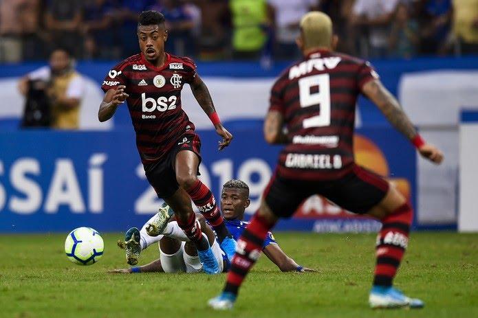 Juntos, Bruno Henrique e Gabigol já fizeram 40 gols neste Brasileirão — Foto: Pedro Vilela/Getty Images