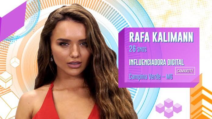 Rafa Kalimann é participante do BBB20 — Foto: Globo