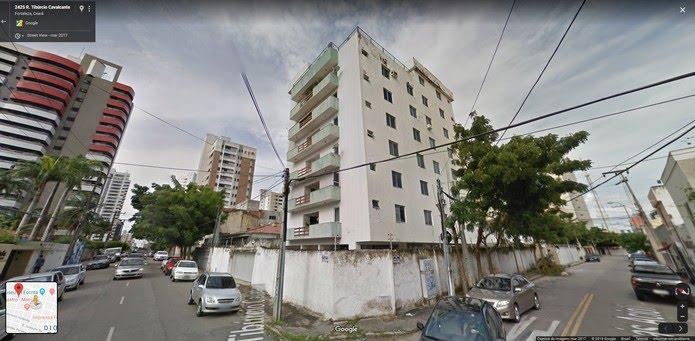 Prédio que desabou em Fortaleza — Foto: Google/Reprodução