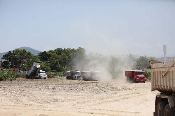 Aterramento dos campos do CT do Vasco — Foto: Rafael Ribeiro/Vasco