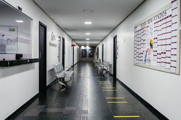 Faculdade privada vazia no DF, após pandemia do novo coronavírus — Foto: Sindepes-DF/Divulgação