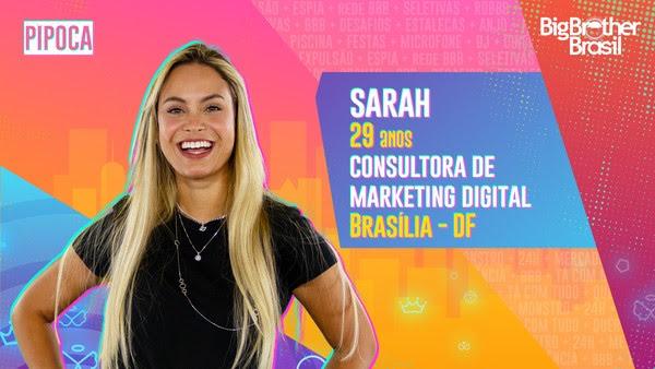 Sarah, BBB21 — Foto: Globo