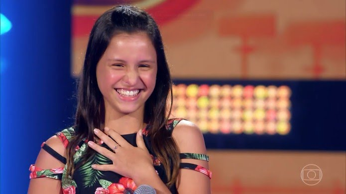 Ana Carolina Julio é participante do 'The Voice Kids' — Foto: TV Globo