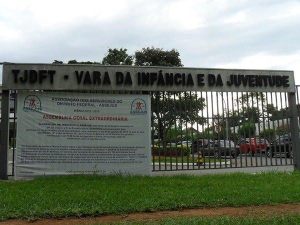 Fachada da Vara da Infância e da Juventude do Distrito Federal, em imagem de arquivo — Foto: Raquel Morais/G1