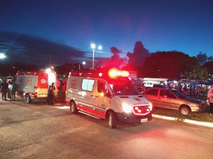 Um homem morreu e o outro foi levado para o hospital — Foto: Acson Freitas