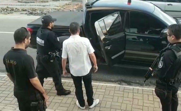 Prisão aconteceu na orla de João Pessoa, durante Operação Calvário, do MPPB, na 1ª fase — Foto: Reprodução/TV Cabo Branco