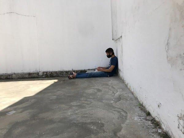 Vitório da Silva Ferreira chegou a dormir em estacionamento de farmácia em 2020 — Foto: Lucas Cortez/inter TV Cabugi