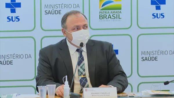 O ex-ministro da Saúde Eduardo Pazuello — Foto: TV Globo/ Reprodução