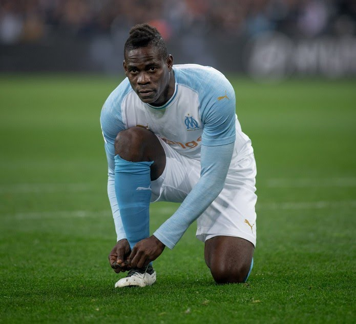 Último time de Balotelli foi o Olympique de Marselha, da França — Foto: Reprodução / Facebook