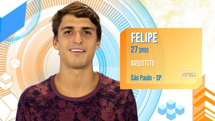 Felipe é participante do BBB20 — Foto: Globo