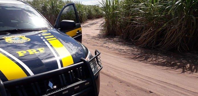 Assaltos aconteceram em uma estrada de terra em meio a um canavial às margens da BR-101, em São José de Mipibu, próximo ao Posto de Fiscalização da PRF,   — Foto: Klênyo Galvão/Inter TV Cabugi