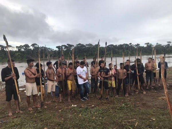 Indígenas da Comunidade Palimiu, na Terra Indígena Yanomami — Foto: Condisi-YY/Divulgação