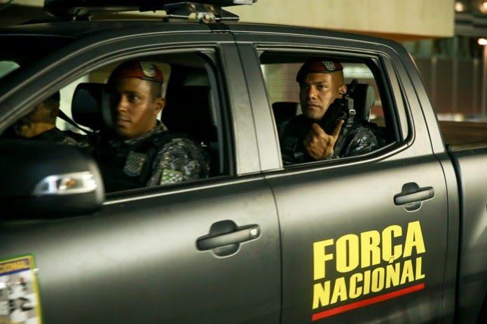 Força Nacional começa a atuar nas ruas de Fortaleza — Foto: Camila Lima/SVM