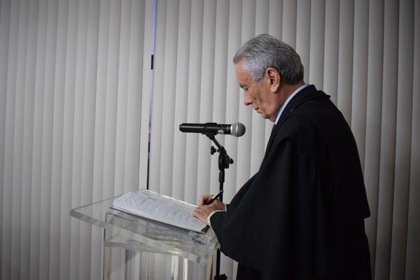 Vivaldo Pinheiro tomou posse nesta quinta-feira no TJRN (7) — Foto: Tasso Pinheiro/TJRN