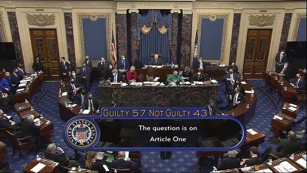 Trump é absolvido de impeachment — Foto: AP