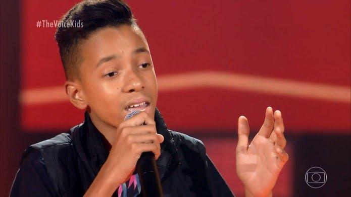 Luank Dias é participante do 'The Voice Kids' — Foto: TV Globo