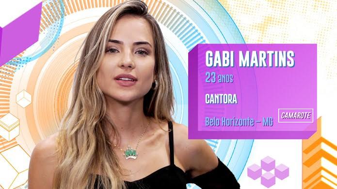 Gabi Martins é participante do BBB20 — Foto: Globo