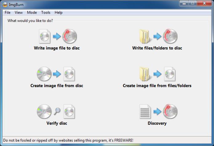 Programas para Windows 10 Imgburn
