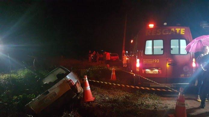 Quando os bombeiros chegaram ao local, vítima já estava morta — Foto:  Corpo de Bombeiros de Sinop-MT/Divulgação