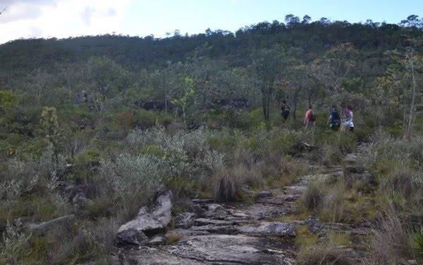 Trilha dos canions no Parque Nacional da Chapada dos Veadeiros, em Alto Paraíso de Goiás — Foto: Vitor Santana/G1