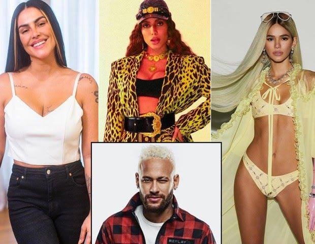 cleo_anitta_bruna_e_neymar Neymar fala sobre Bruna Marquezine, diz que já pegou Anitta e que sonha com Cleo desde criança