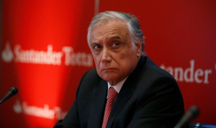António Vieira Monteiro assumiu a presidência do conselho do Santander de Portugal em 2019 — Foto: Rafael Marchante/Reuters
