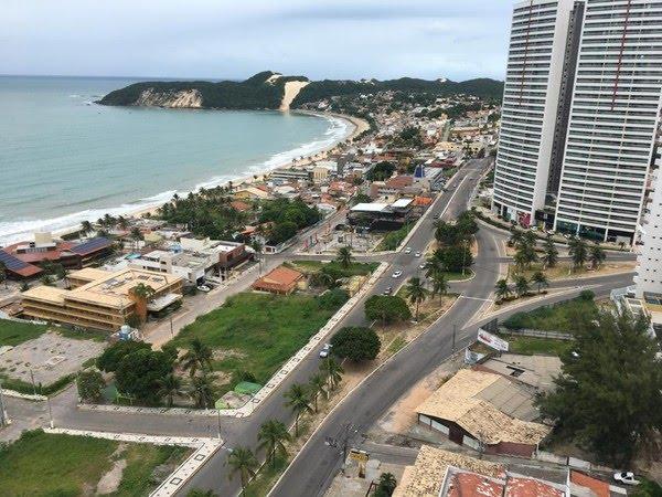 Vista do bairro Ponta Negra, em Natal — Foto: Rafael Barbosa/G1