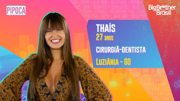 Thaís, BBB21 — Foto: Globo