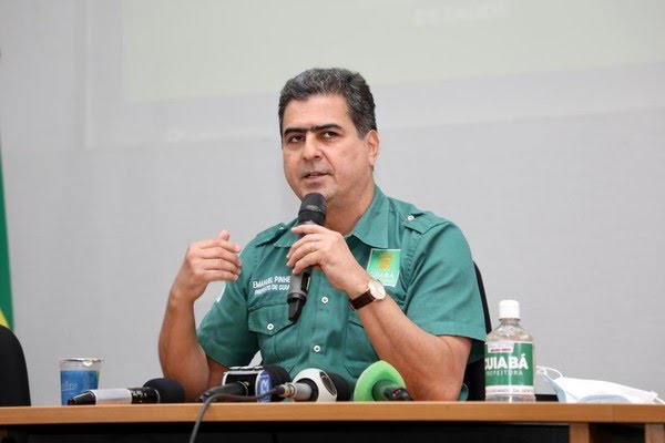 Prefeito Emanuel Pinheiro diz que vê com preocupação realização da Copa América no estado — Foto: Assessoria