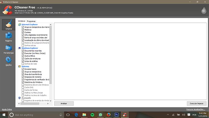 Programas para Windows 10 Ccleaner