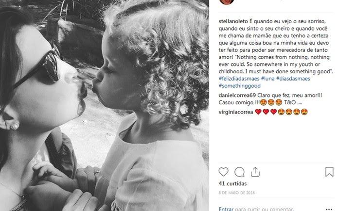 Stella Noleto, mãe da Luna, morreu em setembro de 2016, após complicações por conta da Lúpus — Foto: Reprodução/Instagram