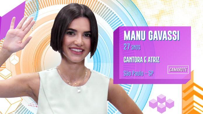 Manu Gavassi é participante do BBB20 — Foto: Globo