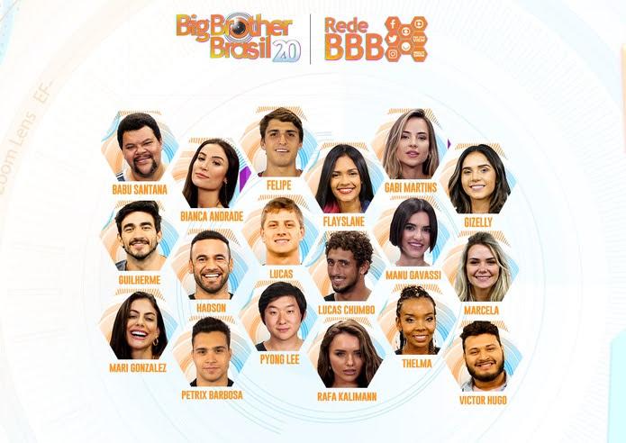 Confira a lista dos brothers do BBB20 — Foto: Gshow/TV Globo