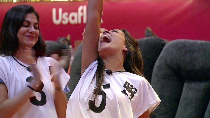 Ivy é a última a deixar a Prova do Líder Usaflex — Foto: Globo